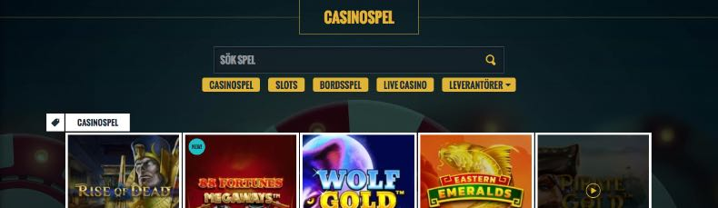 No Account Bet casino & live casino